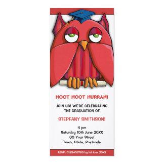 Invitación roja de la fiesta de graduación 4 del invitación 10,1 x 23,5 cm