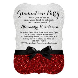 Invitación roja de la fiesta de graduación del arc
