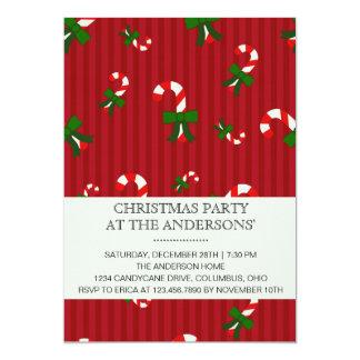 Invitación roja de la fiesta de Navidad de