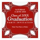 Invitación roja de la graduación de la regalía