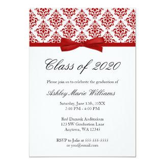 Invitación roja de la graduación del arco del