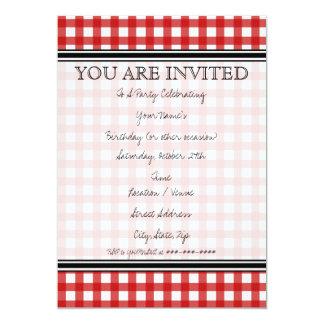 Invitación roja de la guinga