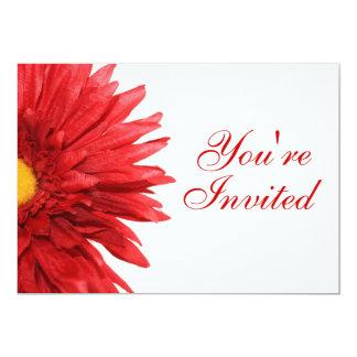 Invitación roja de la margarita