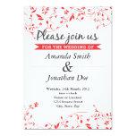 Invitación roja del boda de la flor invitación 12,7 x 17,8 cm