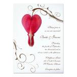 Invitación roja del boda del corazón sangrante invitación 12,7 x 17,8 cm