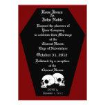 Invitación (roja) del boda del ébano del ataúd