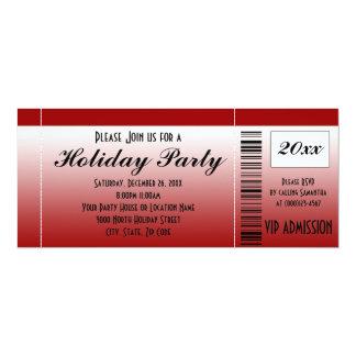 Invitación roja del boleto de la celebración de invitación 10,1 x 23,5 cm