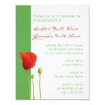 Invitación roja del compromiso de la manzana de la invitación 10,8 x 13,9 cm