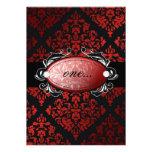 invitación roja del damasco del regaliz 311-Luxuri