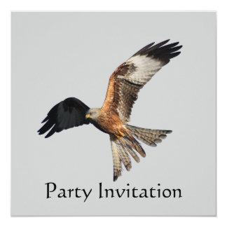 Invitación roja del fiesta de la cometa