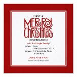 Invitación roja del fiesta del tema de las Felices Invitación 13,3 Cm X 13,3cm