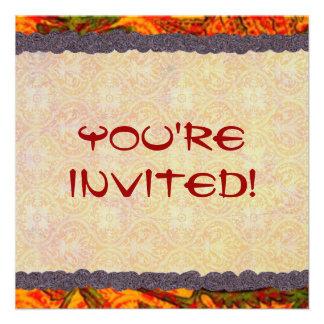 Invitación roja del helecho
