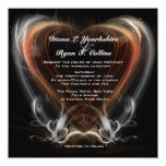 Invitación roja del remolino del corazón invitación 13,3 cm x 13,3cm