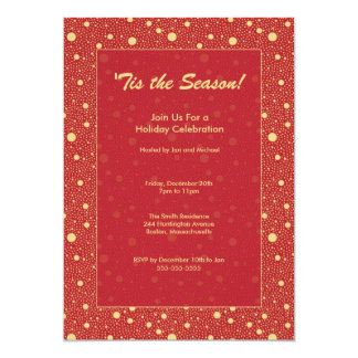 Invitación roja elegante de la celebración de días