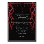 Invitación roja formal del fiesta de la tarjeta de
