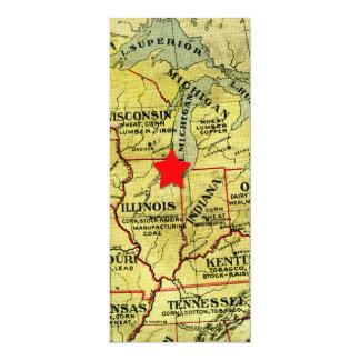 Invitación roja movible de la estrella del mapa