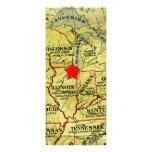 Invitación roja movible de la estrella del mapa de