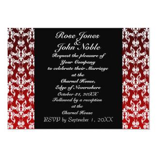 Invitación (roja) negra azul del boda