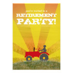 Invitación roja o verde del fiesta de retiro del t