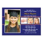 Invitación roja y azul de la fiesta de graduación invitación 12,7 x 17,8 cm