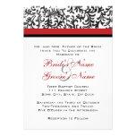 Invitación roja y negra del boda