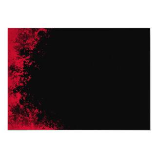 Invitación roja y negra del cepillo 2 del Grunge