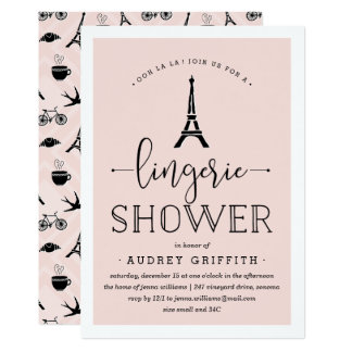 Invitación romántica de la ducha de la ropa
