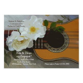 Invitación romántica de la guitarra