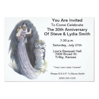 Invitación romántica del aniversario del Victorian Invitación 12,7 X 17,8 Cm