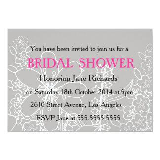 Invitación romántica del boda de la flor blanca