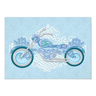 Invitación romántica del boda de la motocicleta