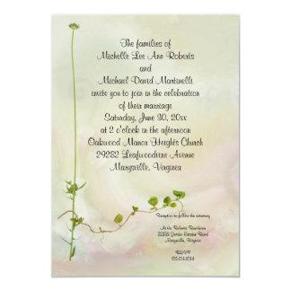 Invitación romántica del boda del jardín