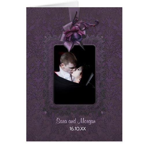 Invitación romántica oscura del boda