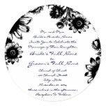 Invitación romántica rústica negra del boda de la