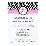 invitación rosa clara de la fiesta de bienvenida