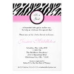 invitación rosa clara de la fiesta de bienvenida a