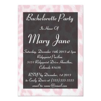 Invitación rosa clara del fiesta de Bachelorette