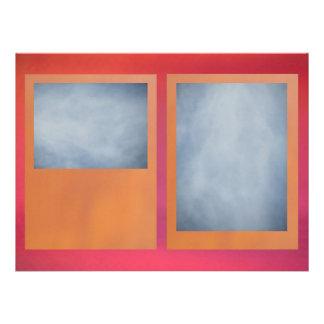 Invitación - rosa rojizo anaranjado - multiusos