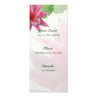 Invitación rosada 4 x 9,25 de Lotus