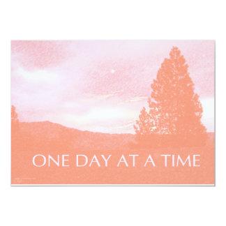 Invitación rosada anaranjada de la alba de ODAT