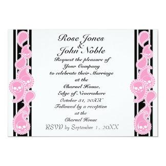 Invitación (rosada) anversa del boda