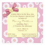 Invitación rosada bonita de la ducha de la niña de