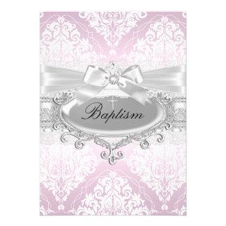 Invitación rosada bonita del damasco y del