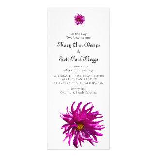 Invitación rosada brillante del boda de la dalia