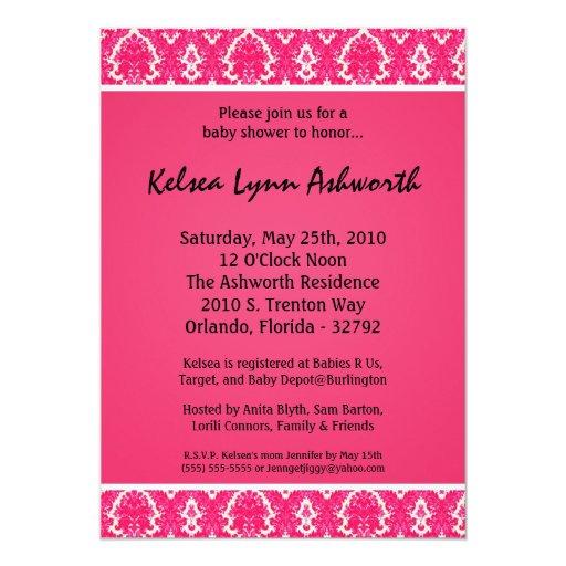 invitación rosada colorida de la fiesta de invitación 12,7 x 17,8 cm