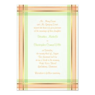 Invitación rosada coralina del boda de la tela