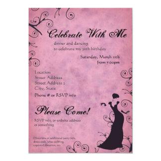 Invitación rosada de la elegancia