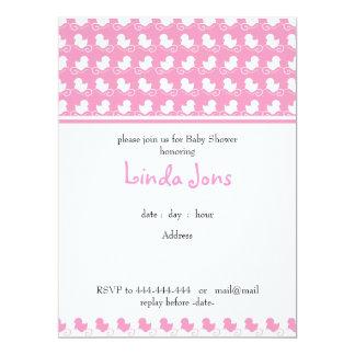 invitación rosada de la fiesta de bienvenida al