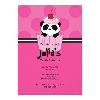 Invitación rosada de la fiesta de cumpleaños de la invitación 12,7 x 17,8 cm