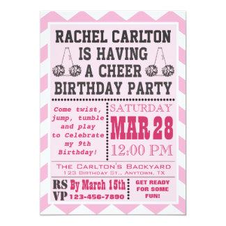 Invitación rosada de la fiesta de cumpleaños que invitación 12,7 x 17,8 cm